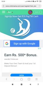 Crick Mania Unlimited Earning Trick