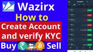 How to create Wazirx Account and Verify KYC