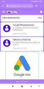PollsCity 1-Device Unlimited Refer Bypass Trick