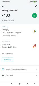 Nojoto app Payment Proof